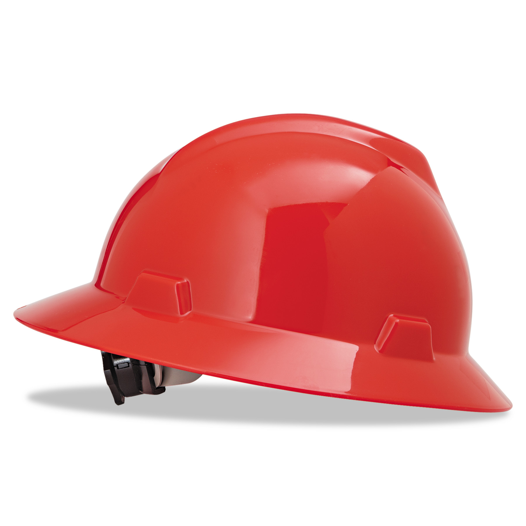 MSA V-Gard Full-Brim Hard Hats, Ratchet Suspension, Size 6 1 2 8, Red by SAFETY WORKS