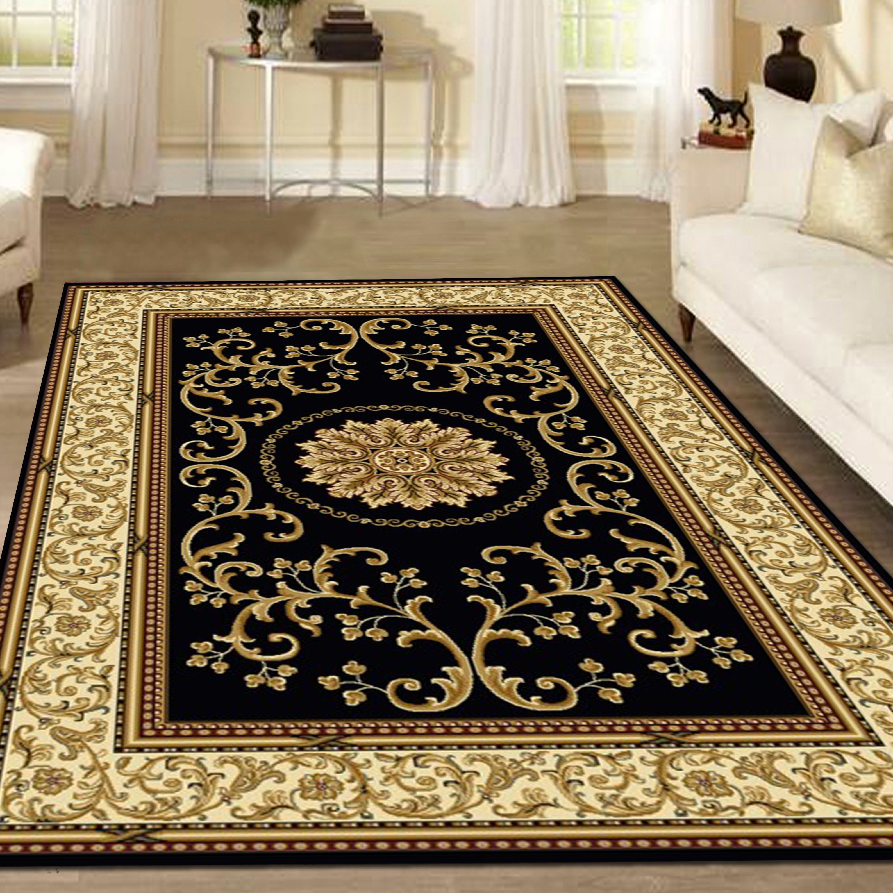 Radici Usa Noble 1419 Area Rug Black Walmart Com