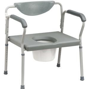 Bariatric Commode (Drive Medical Deluxe Bariatric Commode Gray, Large, 22