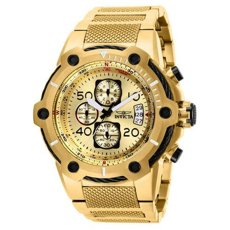 (Invicta Men's 28026 Bolt Quartz Multifunction Gold Dial Watch)