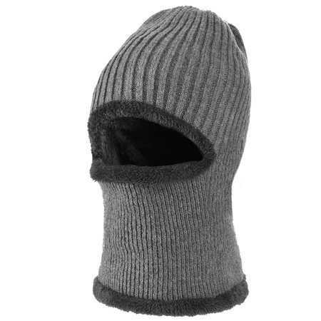 68959d88781 Fitbest - Mens Knitted Hat-Fitbest Mens Womens Winter Knitted Hat Dual-use Knitted  Skull Cap Windproof Balaclava Mask Neck Warmer with Plush Lining ...