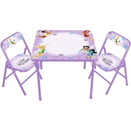 Disney - Tinker Bell Fairies Erasable Activity Table and Chair Set ...