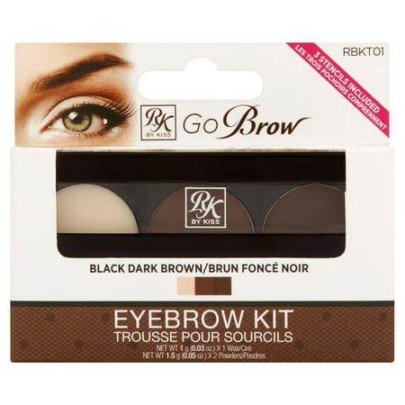 Ruby Kisses Go Brow Black Dark Brown Eyebrow Kit