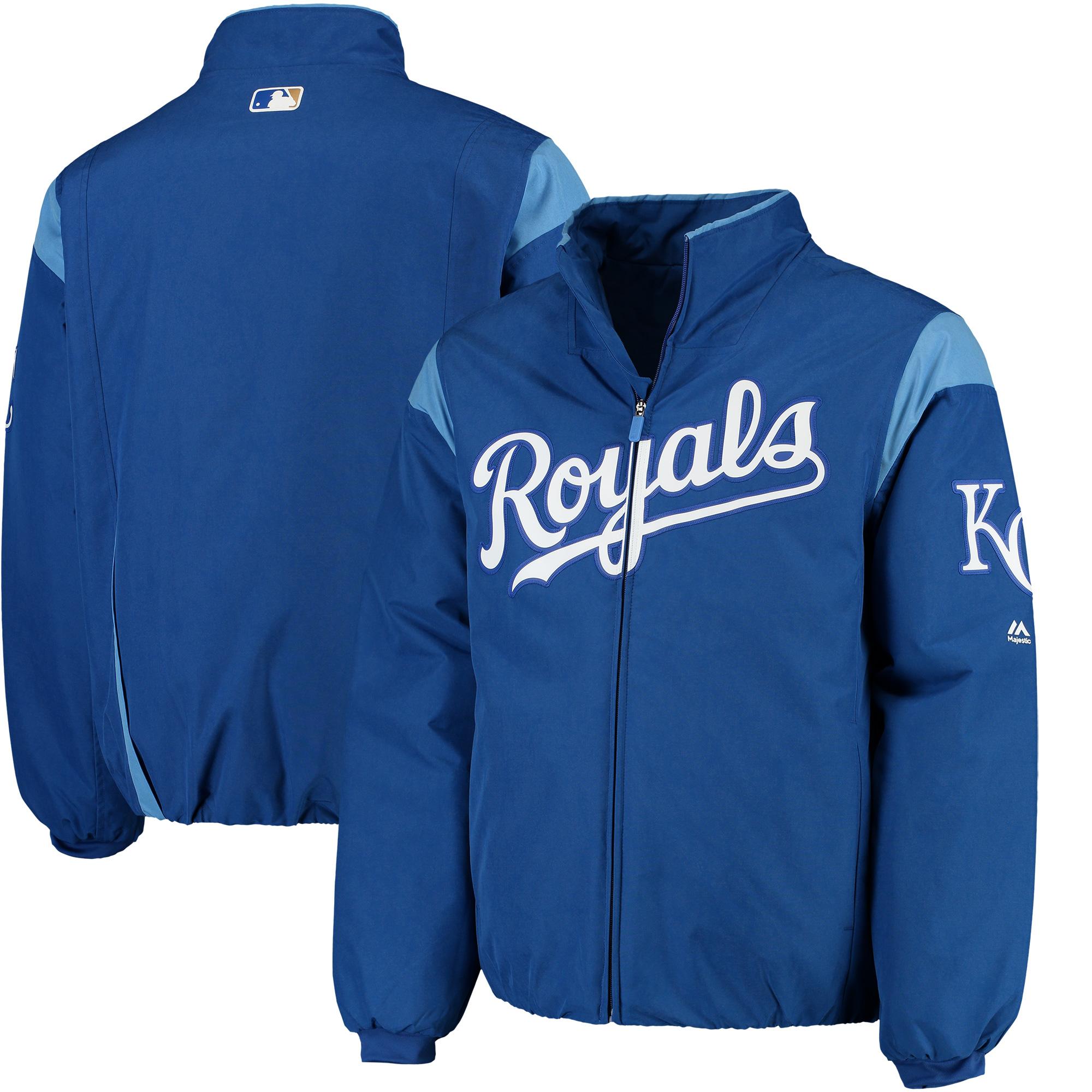 Kansas City Royals Majestic On-Field Therma Base Thermal Full-Zip Jacket - Royal