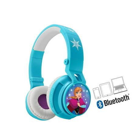 Frozen Bluetooth Headphones Disney Movie Wireless Kid Friendly Sound with (Ihome Disney Frozen Over The Ear Headphones)