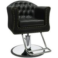 ARIA Barber Beauty Salon Hair Equipment Hydraulic Styling Chair SC-87BLK