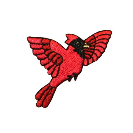 ID 0603 Flying Cardinal Patch Nature Bird Spring Embroidered Iron On Applique Cardinals Nfl Applique