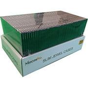 CD Storage Protective Jewel Case Organizer Replacement Box 50 Pack Slim