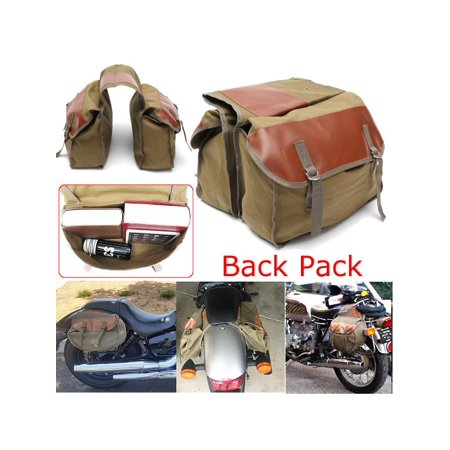 1 Pair Motorbike Motorcycle Canvas Saddle Bags Equine Back Pack for Hon da