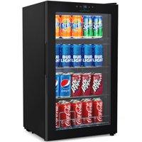 Nutrichef Compact Beverage Fridge Cooler - Wine Bottle & Can Beverage Chilling Refrigerator