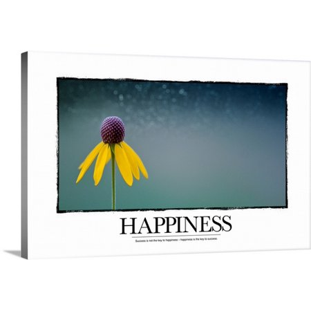 Great Big Canvas Kate Lillyson Premium Thick Wrap Canvas Entitled Inspirational Poster  Success Is Not The Key To Happiness