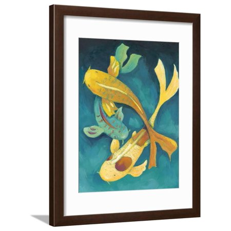 Ornamental Koi I Framed Print Wall Art By Chariklia Zarris ()