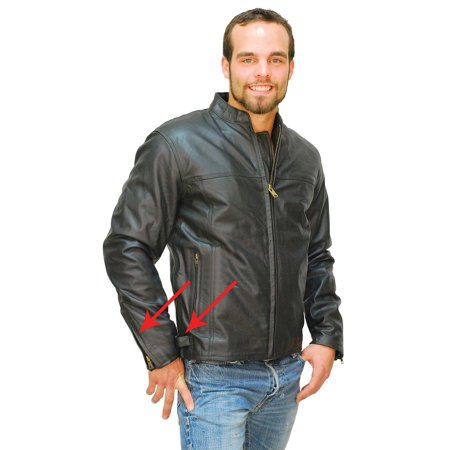 Racing Replica Leather Jacket - Classic Leather Cafe Racing Jacket for Men #M6057ZK
