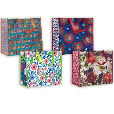Jillson & Roberts Reusable  Forever  Shopping Bag Assortment (4 Bags) Jillson & Roberts Reusable  Forever  Shopping Bag Assortment (4 Bags). Assortment includes 1 bag each of  Owlie ,  Bold Blossom ,  Pretty Petunia  and  Botanic .