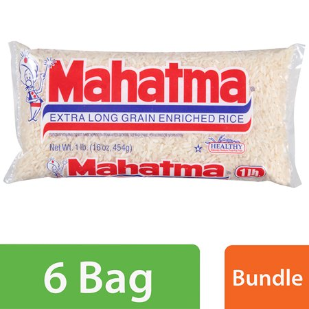 (6 Pack) Mahatma Extra Long Grain Enriched Rice 16 oz Bag