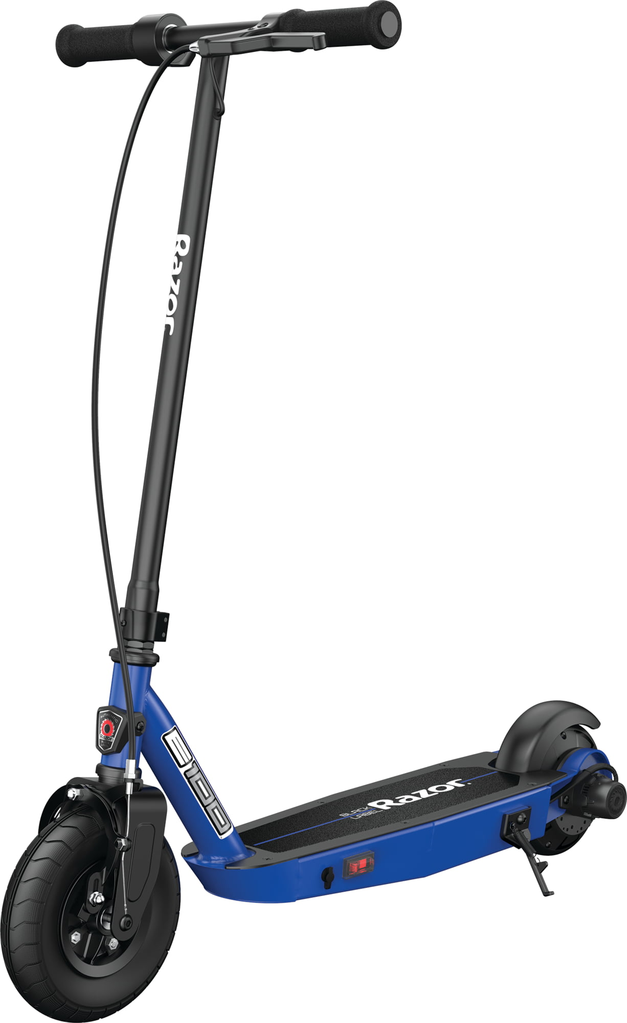 """Razor Black Label E100 Electric Scooter for Kids Age 8 and up, 8"""" Air-Filled Front Tire, Power Core High-Torque Hub Motor - Walmart.com - Walmart.com"""