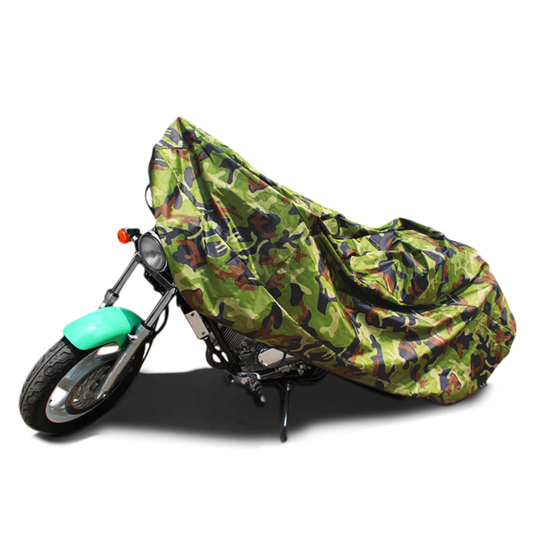 L 190T Rain Dust Motorcycle Cover Camouflage Outdoor Waterproof