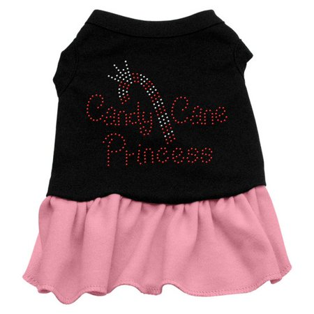 Candy Cane Princess Rhinestone Dress Black with Pink Med (12) for $<!---->
