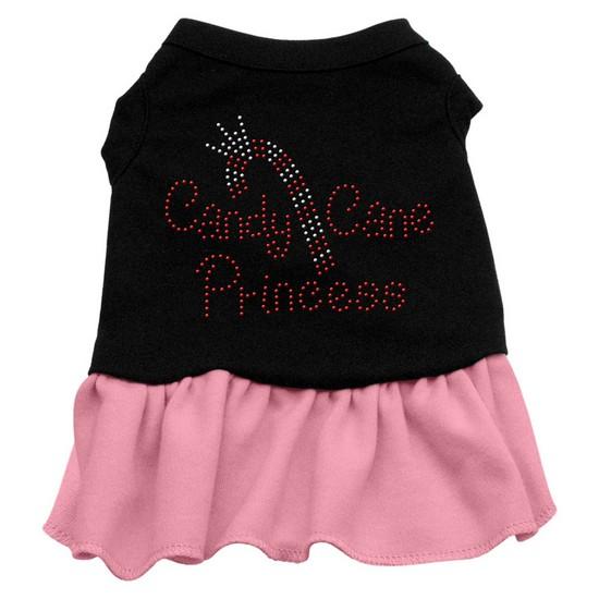 Candy Cane Princess Rhinestone Dress Black with Pink Med (12)