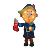 Product Works 60553 18 inch 3-D Rudolphs Hermey Holding Christmas Stocking