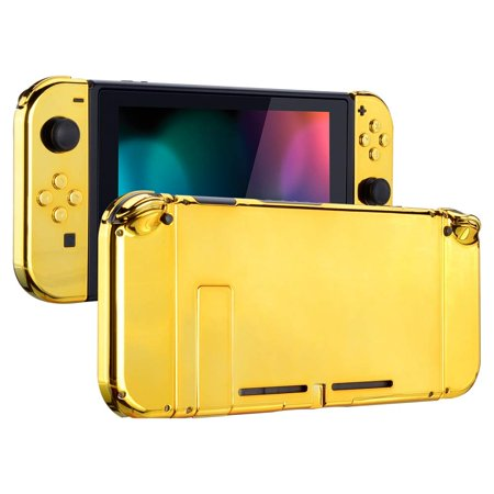 Soft Touch Grip Wood Grain Back Plate for Nintendo Switch Console, NS  Joycon Handheld Controller Housing with Full Set Buttons,DIY Replacement  Shell