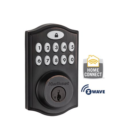 Kwikset 914TRL-ZW SmartCode Single Cylinder Touchpad Electronic Deadbolt with Z-Wave