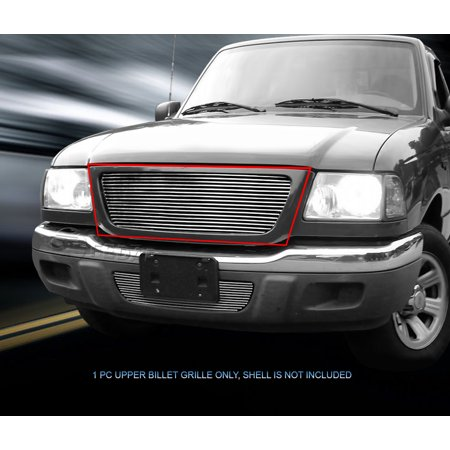 Ford Ranger Chrome Grille (Fedar Main Upper Billet Grille For 2001-2003 Ford Ranger XL 2WD/XLT)
