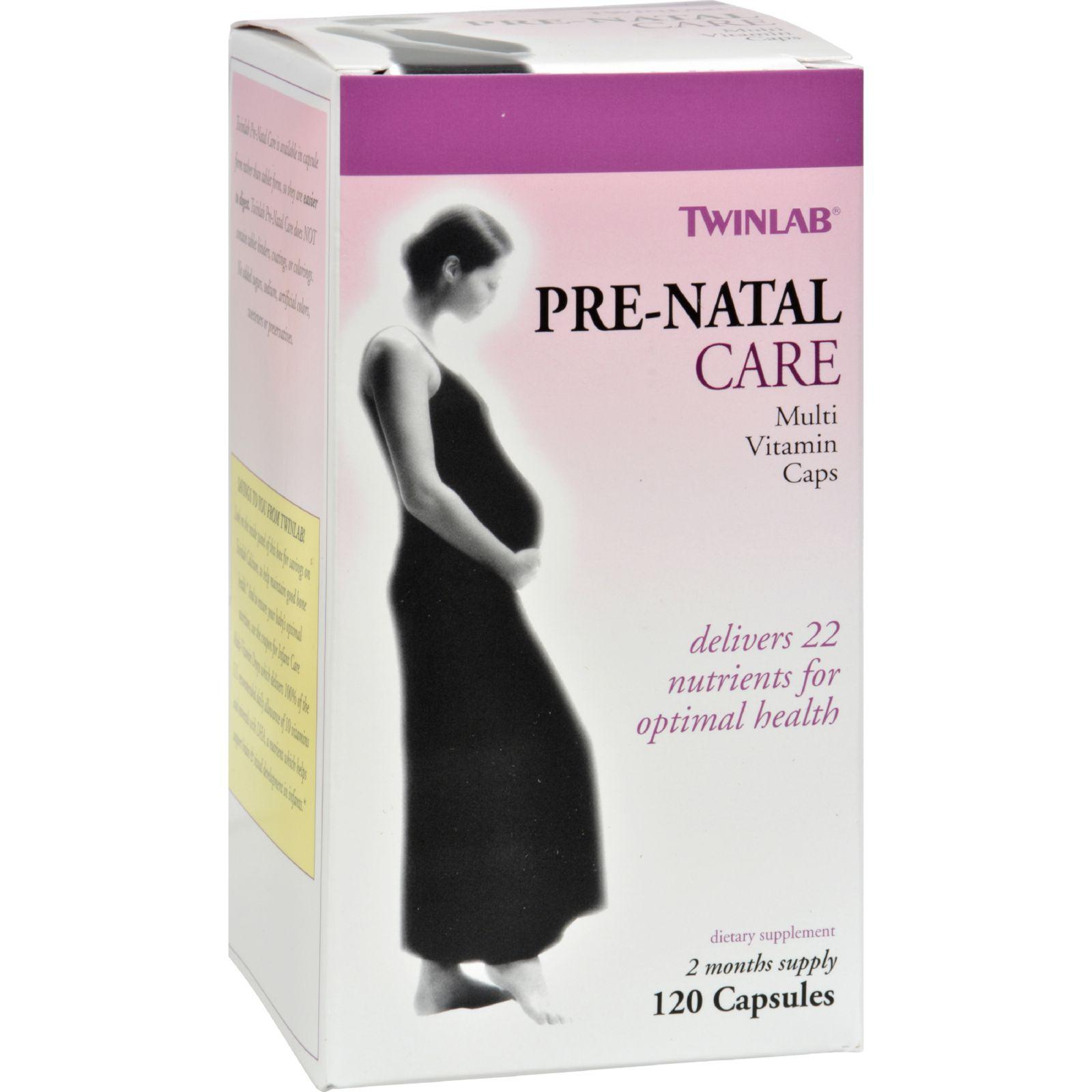 Twinlab Pre-Natal Care Multi Vitamin Caps, 120 count
