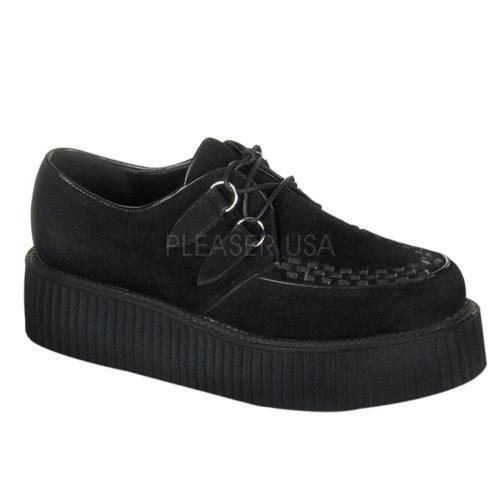 CRE402S B Demonia Creepers Unisex Shoes BLACK Size: 7 by