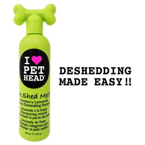 "Pet Head De Shed Me Miracle Deshedding Shampoo, Strawberry Lemonade, 12 oz 9"" x 3"" x 2.5"""