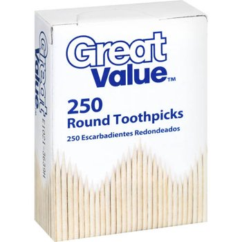 4 Pk. Great Value Round Toothpicks 250 count