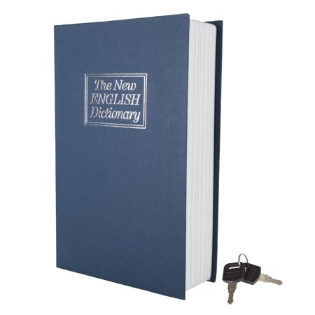 Lock Box with Key, Diversion Book Safe (Portable Safe Box, Great for Traveling, Store Money, Jewelry, and Passport) by Stalwart, Dictionary - 6 x 9 in ()