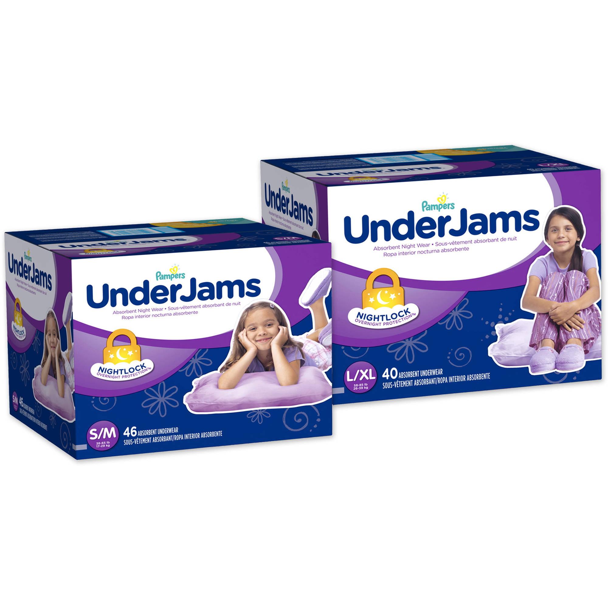 Pampers Girls' Underjams Absorbent Underwear, Big Pack (Choose Your Size)