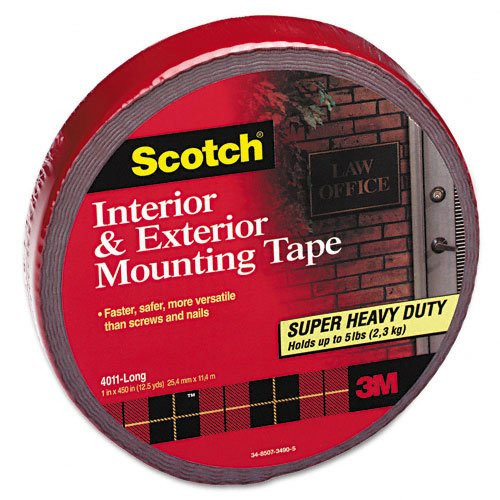 Exterior Weather Resistant Double Sided Tape, 1u0027u0027 X 450u0027u0027