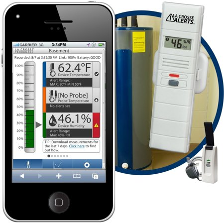 La Crosse Alerts Mobile 926-25100-WGB Wireless Monitor System with Temperature & (Best System Temperature Monitor)