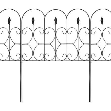 Best Choice Products 10ftx32in 5-Panel Foldable Interlocking Decorative Edging Fence Panels w/ Rust-Free Powder Coat