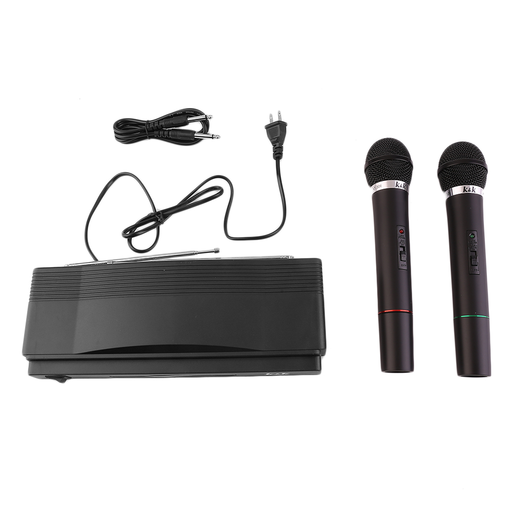 Professional Wireless Microphone System Dual Handheld by LESHP