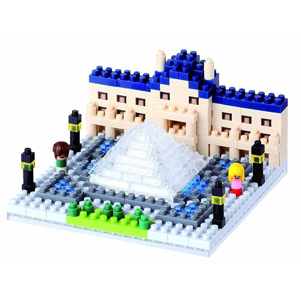 Nanoblock Louvre Museum Model Kit by