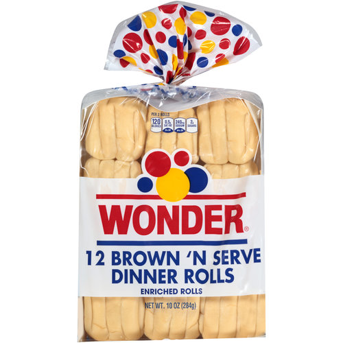 Wonder Brown 'N Serve Dinner Rolls, 12 count, 10 oz