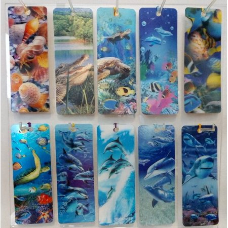 3d Bookmarks Wholesale (3 D Realistic Lenticular Bookmarks with Tassel Sea Life 10)