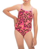 Dolfin Uglies Girls Print 1-Piece in Rawr, Size 16