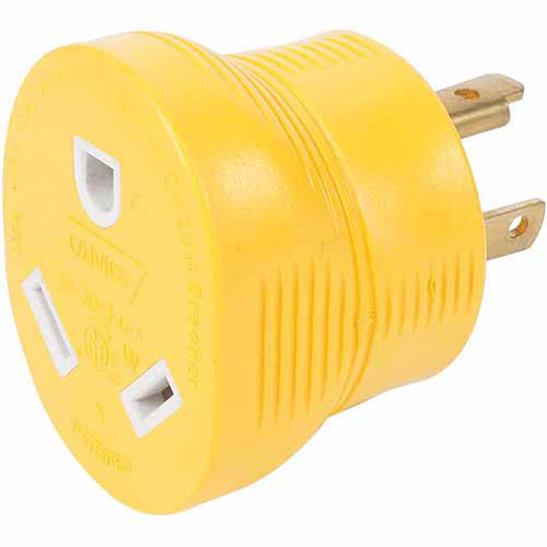 Camco RV 30-Amp Generator Adapter, Yellow
