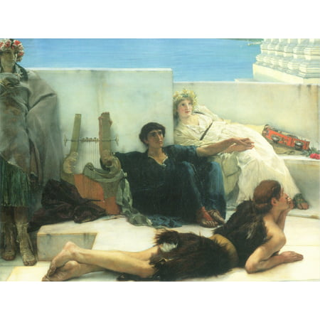 Framed Art for Your Wall Alma -Tadema, Sir Lawrence - A reading of Homer, detail [1] 10 x 13 (Lawrence Outdoor Wall)