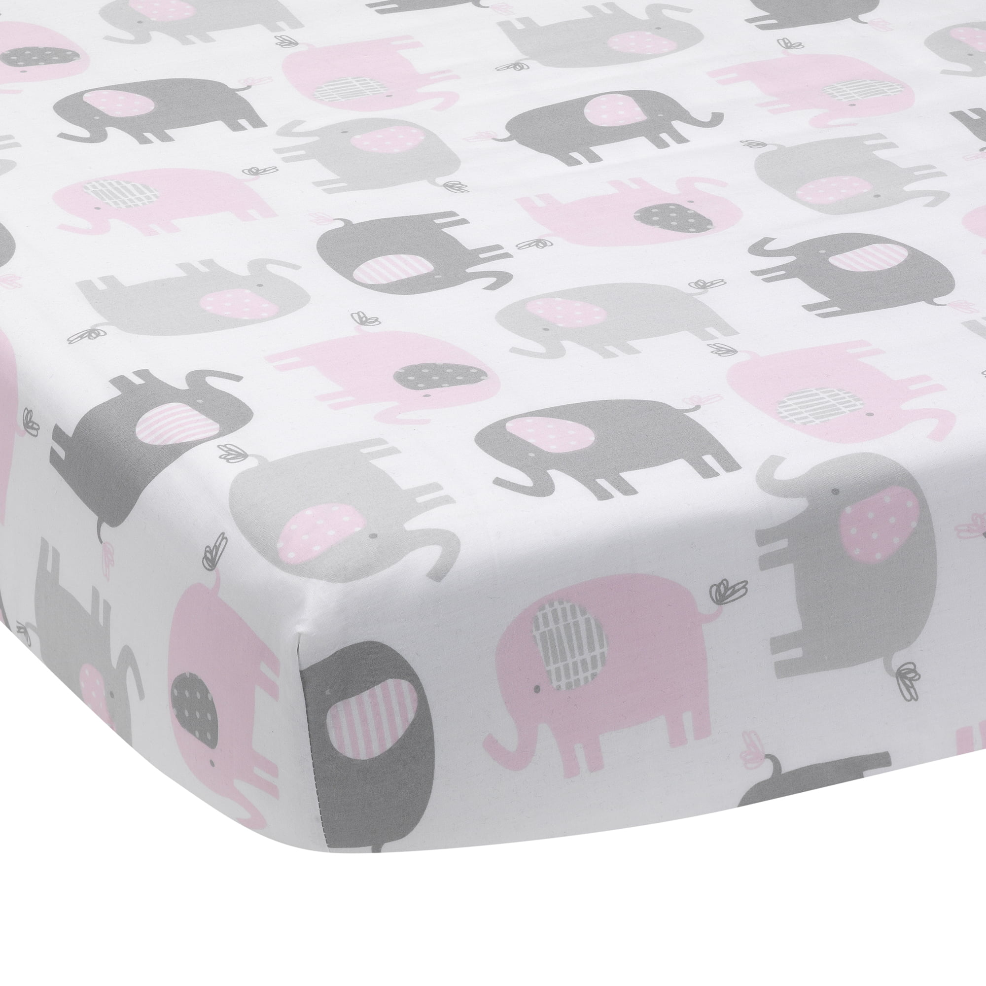 Women/'s Pink Elephants On Parade Cotton Tank Top