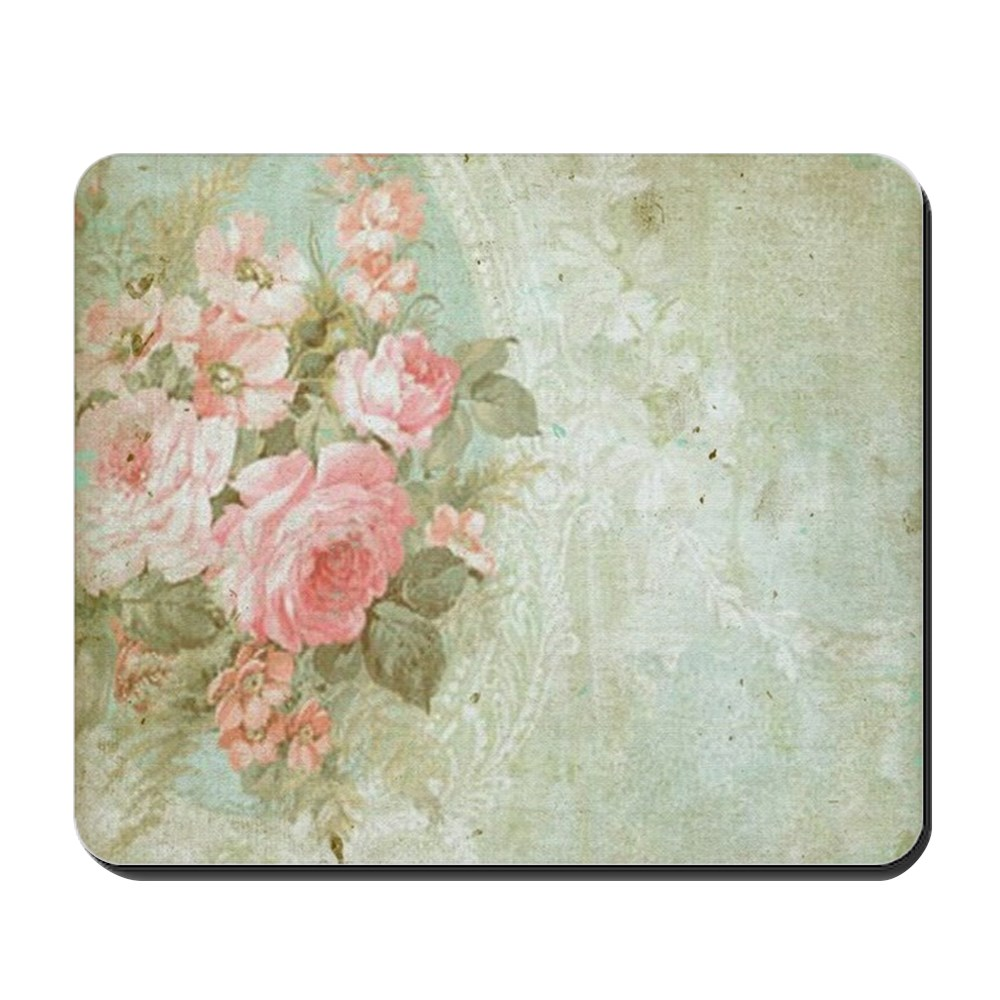 CafePress - Chic Vintage Pink Rose - Non-slip Rubber Mousepad, Gaming Mouse Pad