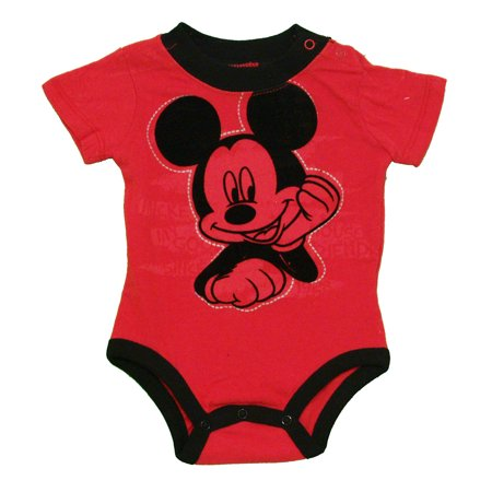 Mickey Mouse Soft Ears Disney Cartoon Baby Creeper Romper Snapsuit ... 9633d209fc0
