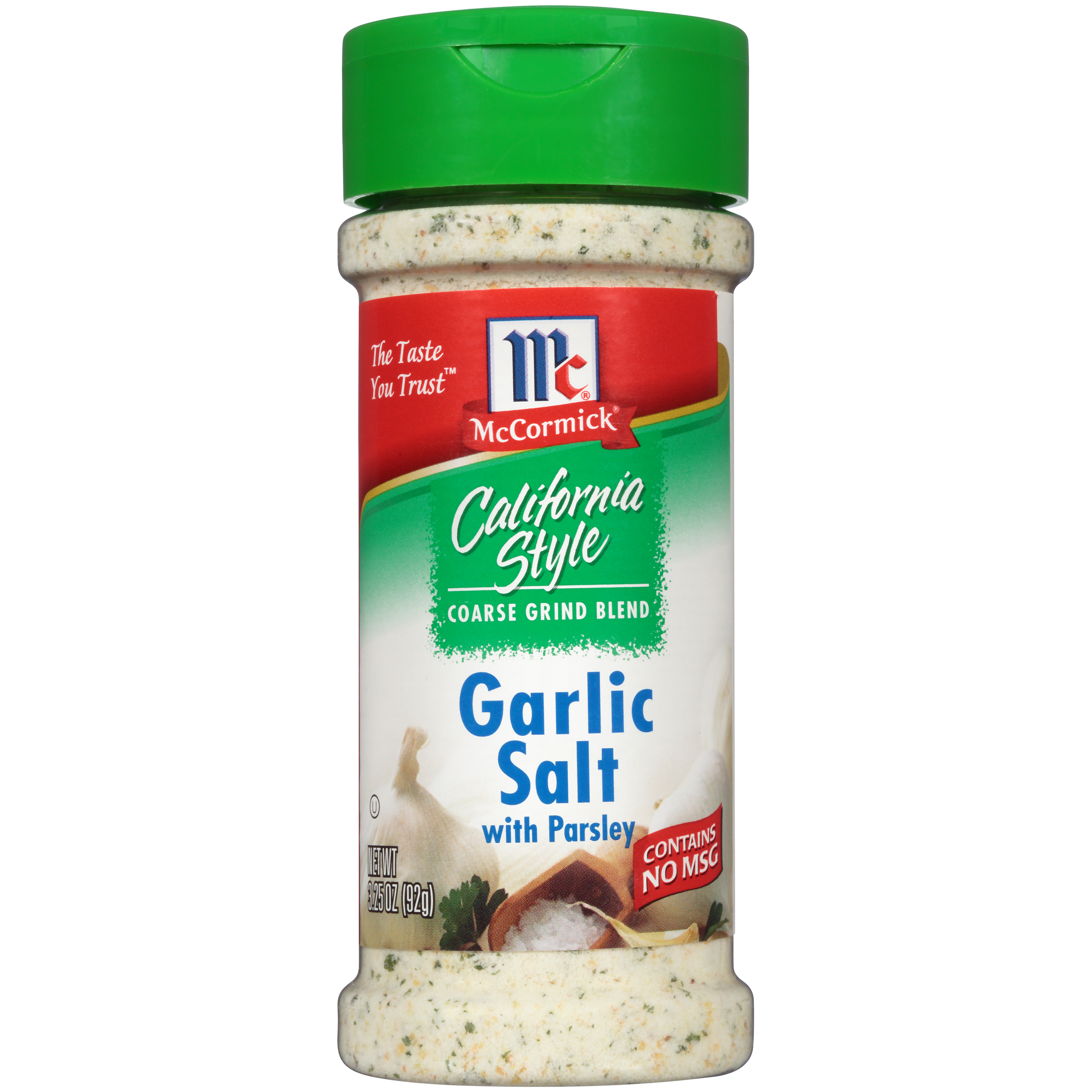 McCormick® California Style Garlic Salt With Parsley Coarse Grind Blend, 3.25 oz