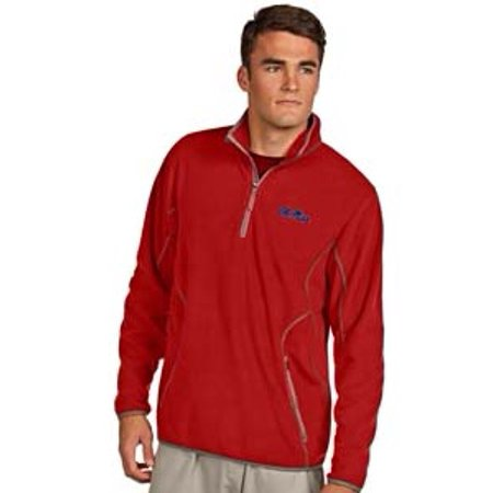 Ole Miss Rebels Antigua Ice Pullover Quarter-Zip Jacket - Red
