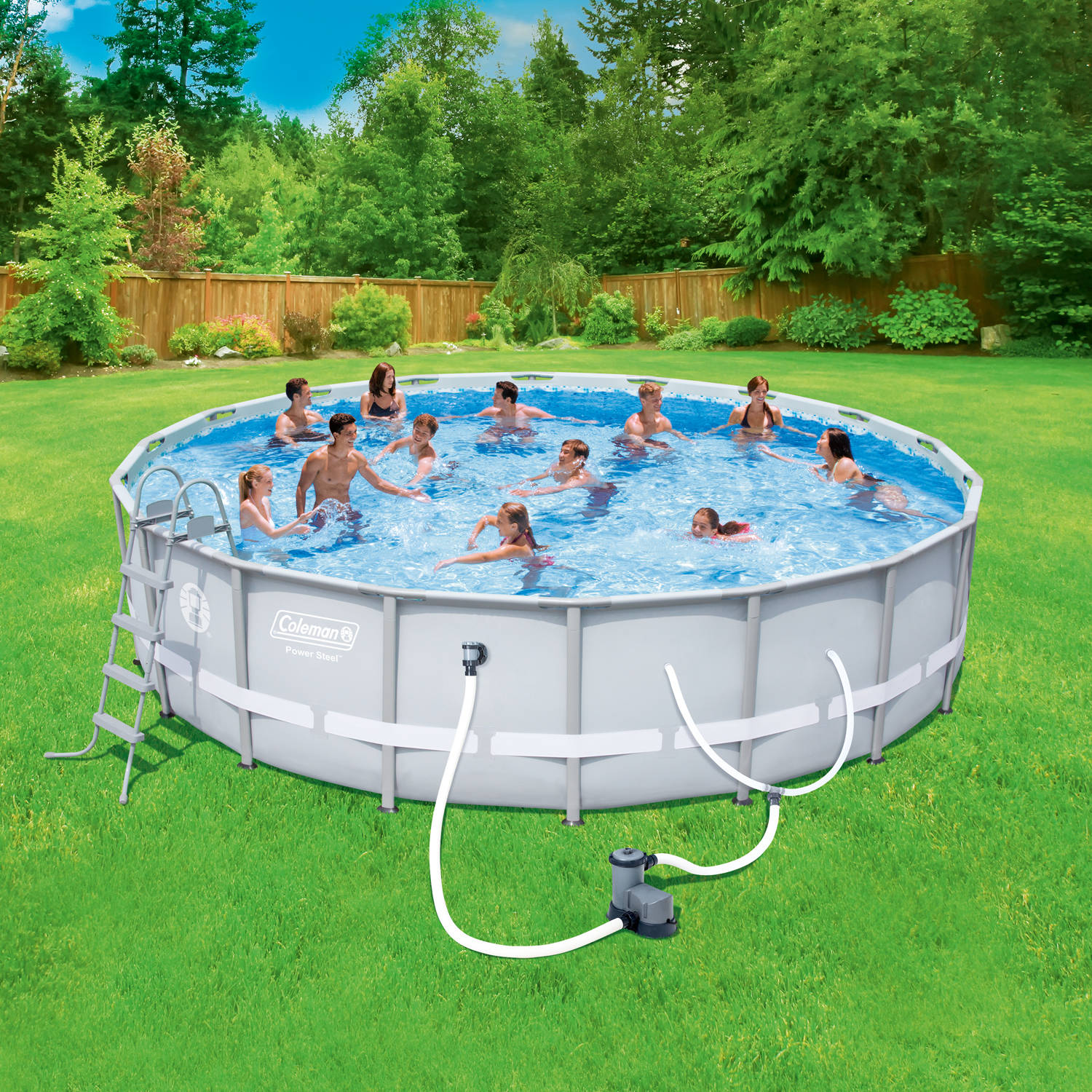 "Coleman Power Steel 18' x 48"" Frame Swimming Pool Set"
