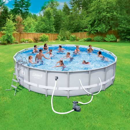 Coleman power steel 18 39 x 48 frame swimming pool set - Walmart above ground swimming pools ...